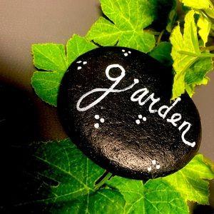 Black Stone Garden Rock